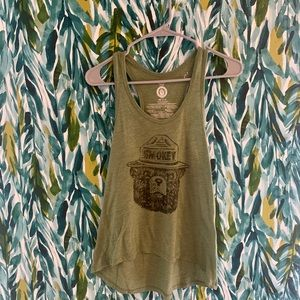 Army green Smokey the bear tank top